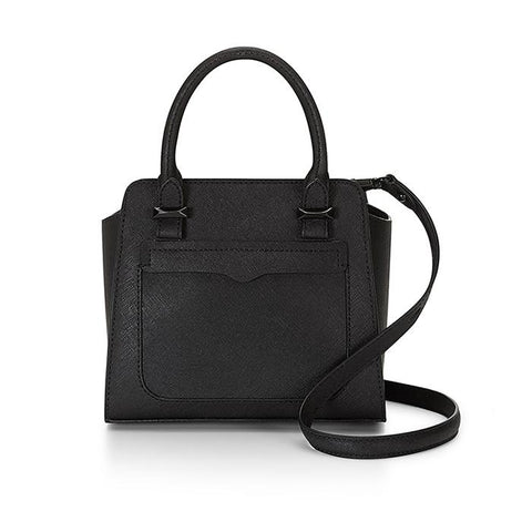 Rebecca Minkoff-Handbags-Micro Avery Tote, Crossbody Black