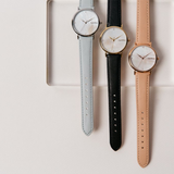 RumbaTime-Straps-Lafayette Blush/Rose Gold Leather Strap