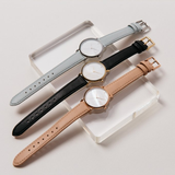 RumbaTime-Straps-Lafayette Blue/Rose Gold Leather Strap