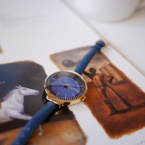RumbaTime-Watches-Orchard Leather Midnight Blue