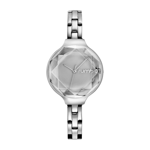 RumbaTime-Watches-Orchard Gem Stainless Steel Watch - Silver