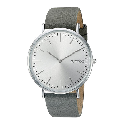 RumbaTime-Watches-Soho Suede Watch - Pewter