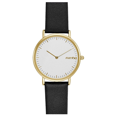 RumbaTime-Watches-Soho Leather Watch - Black