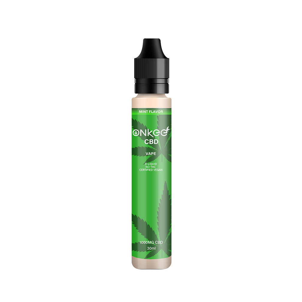Hemp Vape CBD Oil  E-Liquid 1000MG CBD/30ML Mint Flavour