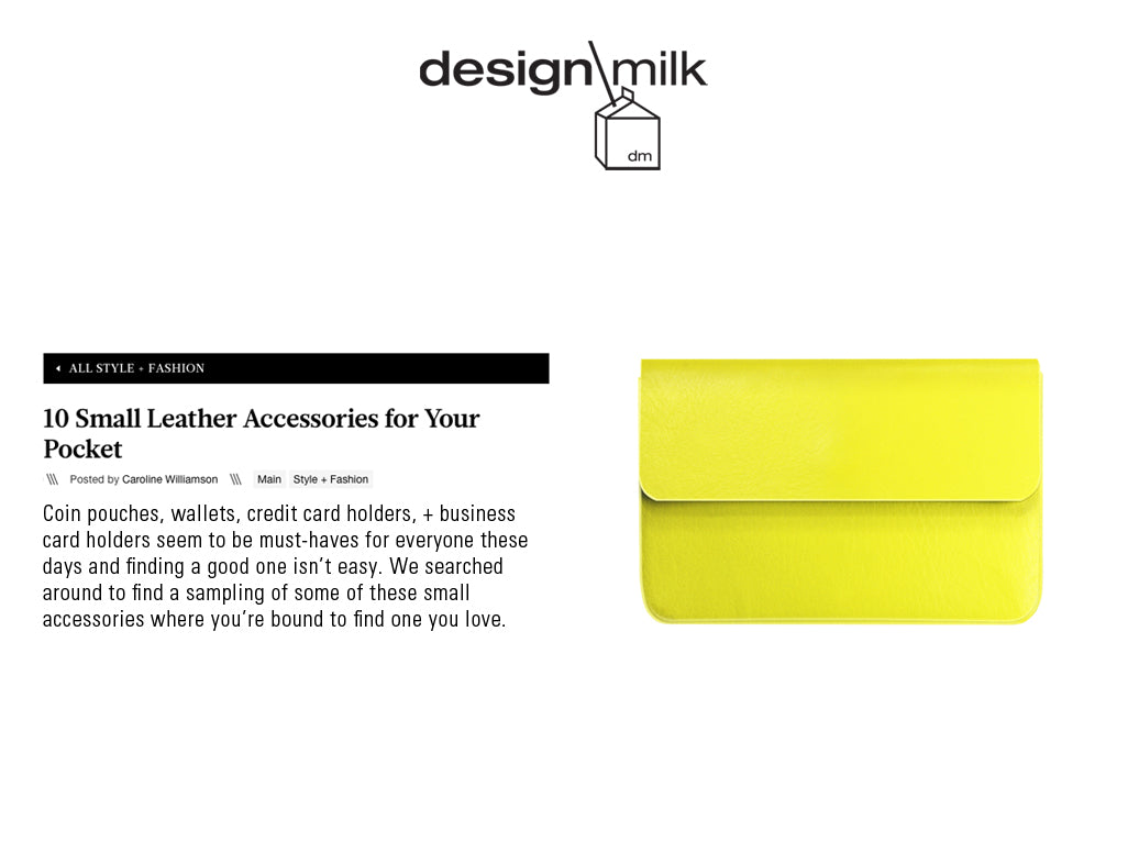 Press design milk shop our picks stewartstand 10 small leather accessories for your pocket design milk by caroline williamson featuring the stewartstand stainless steel credit card case colourmoves