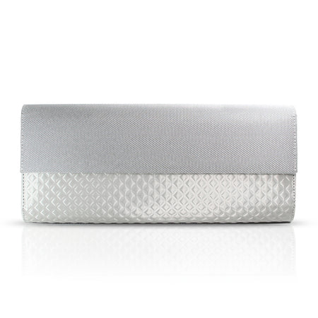 Zipper Wristlet Wallet Diamond Small, Silver