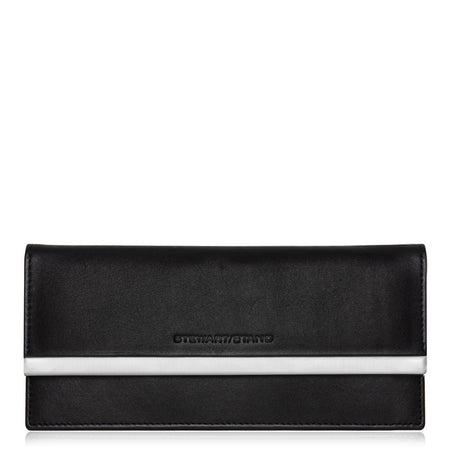 Clutch Wallet, Cobalt + Black