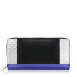 Zipper Wallet, Cobalt + Black