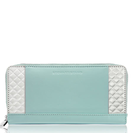 Mini Zipper Wallet, Silver