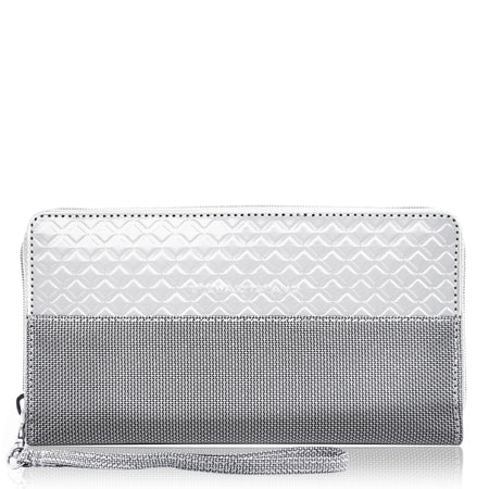 Passport Wallet Alligator, Grey
