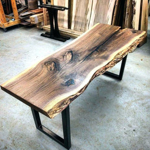 Live Edge Tables And Benches Make The Cut Wood Furniture