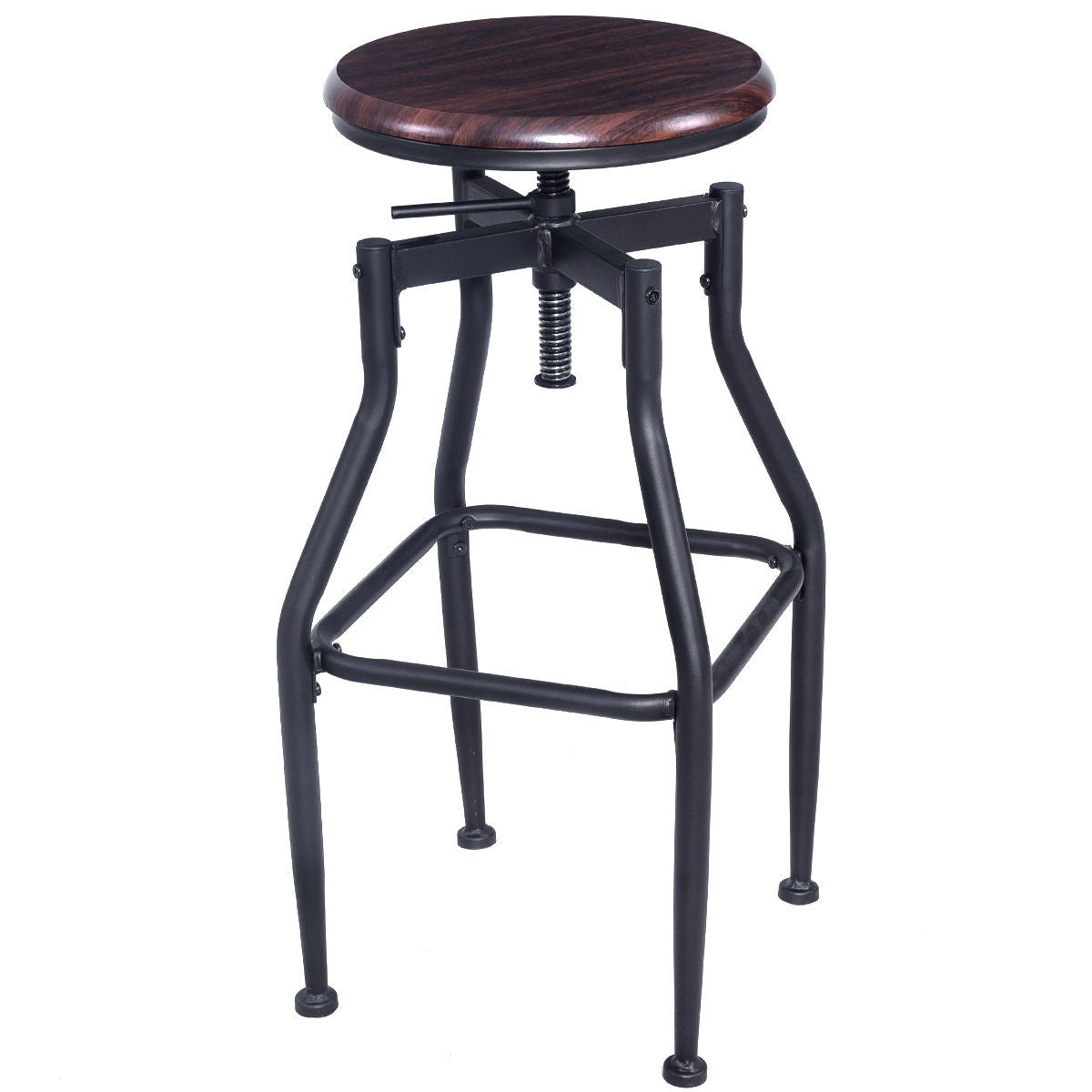 Incredible Wood Top Height Adjustable Swivel Vintage Bar Stool Squirreltailoven Fun Painted Chair Ideas Images Squirreltailovenorg