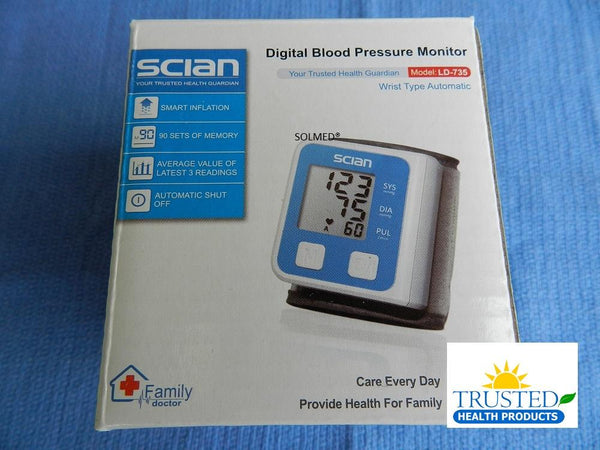 SCIAN WRIST TYPE AUTOMATIC DIGITAL BLOOD PRESSURE MONITOR WITH HEART BEAT DETECTOR X 1