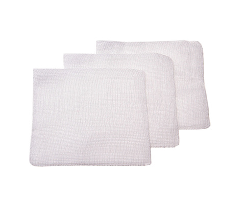 STERILE 8 PLY WHITE GAUZE SWABS 10CM x 10CM (PKT 3s) X 1 PACK