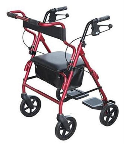DAYS 2in1 TRANSIT ROLLATOR SEAT WALKER RED
