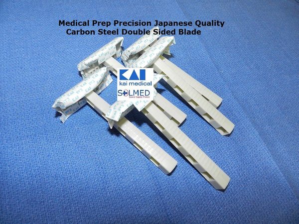 RAZORS MEDICAL SURGICAL PREP DOUBLE EDGE BLADE DISPOSABLE CARBON STEEL X 5