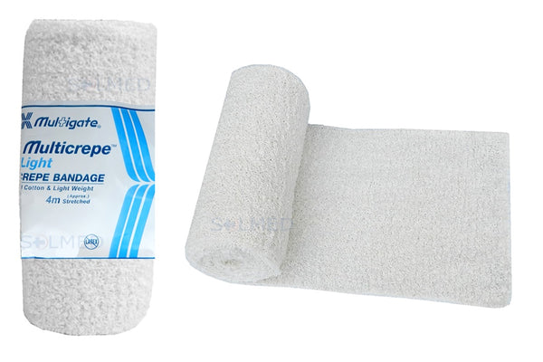 LIGHT CREPE BANDAGE 100% COTTON 4.5M STRETCHED
