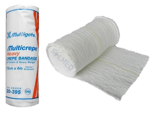 HEAVY CREPE BANDAGE 100% COTTON 4.5M STRETCHED