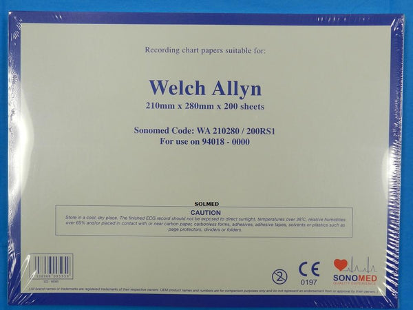 WELCH ALLYN CP100 & CP200 ECG PAPER THERMAL PREMIUM GRADE X 1 PACK
