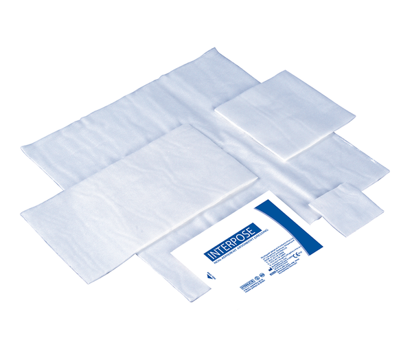 DRESSINGS FIRST AID INTERPOSE® NON-ADHERENT STERILE  5CM x 5CM Box 100