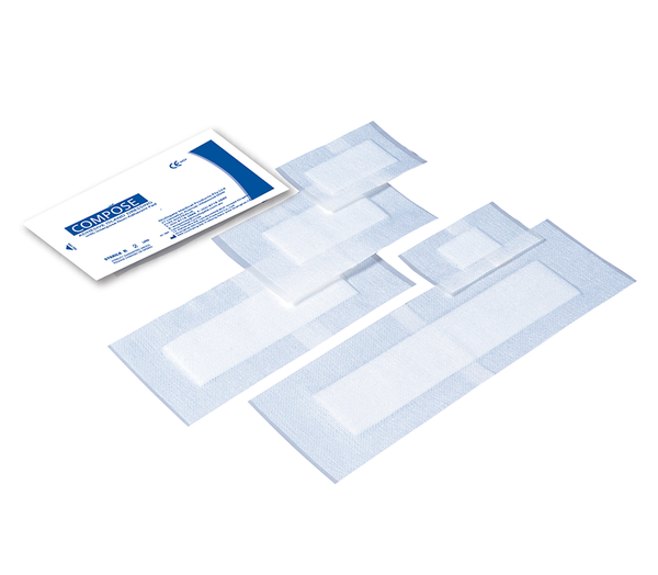 COMPOSE 12CMX8.25CM X (20) ISLAND ADHESIVE DRESSING STERILE WITH NON-ADHERENT WOUND PAD