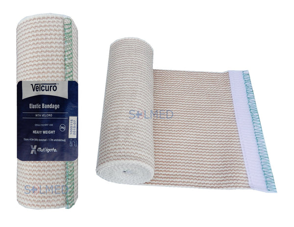 Bandage Elastic Compression Support Bandage with Velcuro Fasteners 15cm