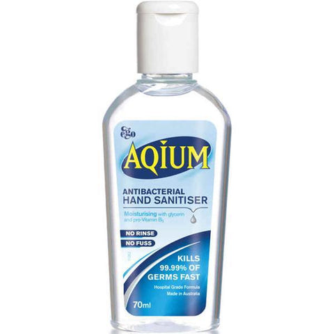HAND WASH ANTIBACTERIAL SANITIZER GEL AQIUM 70ml x 1