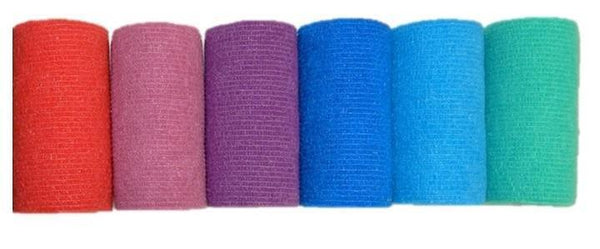 COHESIVE BANDAGE 10CM x 4.7M ASSORTED COLOURS BOX 36