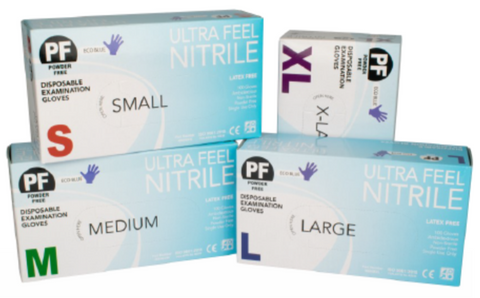 ULTRAFEEL GLOVES NITRILE POWDER FREE CHEMO RESISTANT RATED