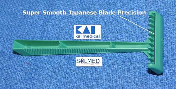 RAZORS MEDICAL SURGICAL PREP SINGLE EDGE BLADE DISPOSABLE STAINLESS STEEL X 5