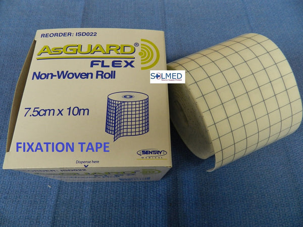 ASGUARD FLEX ROLL TAPE ADHESIVE FIXATION HYPOALLERGENIC FIRST AID RETENTION TAPE 7.5CM x 10M