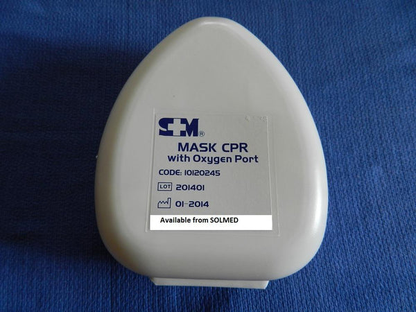CPR RESUSCITATOR POCKET MASK WITH OXYGEN PORT VALVE, FILTER & MOUTHPIECE X 1