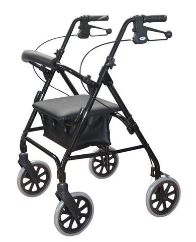 DAYS ROLLATOR SERIES 105 MOBILITY SEAT WALKER BLACK 165KGs CAPACITY