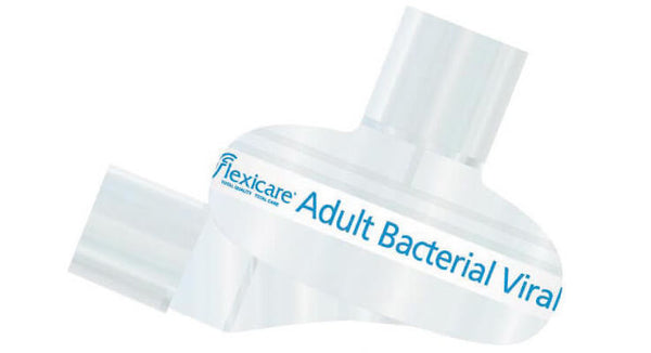 FLEXICARE ADULT ANGLED BACTERIAL VIRAL FILTER + HME WITH TETHERED CAP PORT