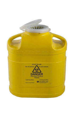 SHARPS CONTAINER 5.0L SNAP TOP LID