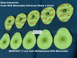 SKINTACT ECG ELECTRODES FOAM SOLID GEL UNIVERSAL SNAP CONNECTOR PACK OF 50