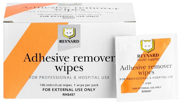 ADHESIVE REMOVER WIPES SUPER VALUE MAXI SWAB 6CM X 6CM BOX 100