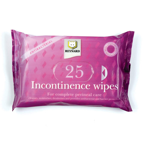 PREMIUM ALL IN ONE INCONTINENCE CARE WIPES 33CM x 22CM  RESEALABLE PACK OF 25