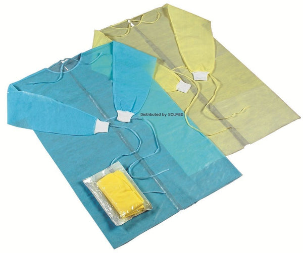GOWN FIRST AID ISOLATION IMPERVIOUS GOWN BLUE x 1