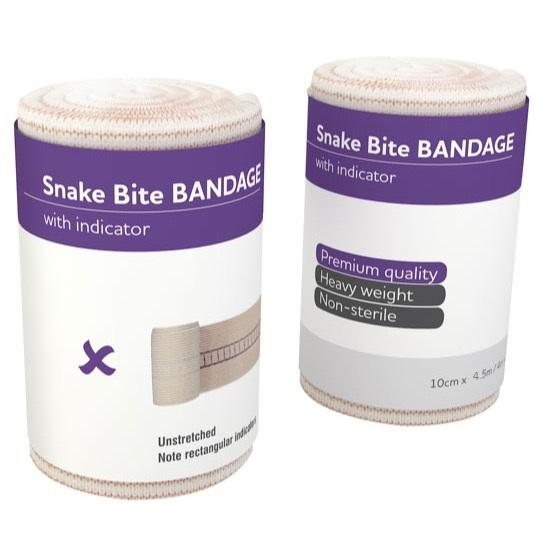 SNAKE BITE BANDAGE WITH COMPRESSION INDICATOR 4.5M x 10CM WIDTH