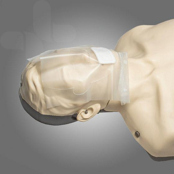 CPR MANIKIN / MANNEQUIN FACESHIELDS FOR CPR TRAINING SKIN FEEL LATEX FREE BOX 36 X 1