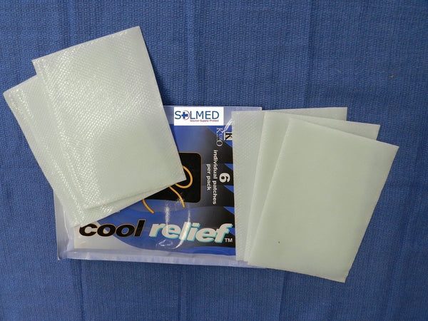 INSTANT COOL RELIEF PATCHES 14CM x 10CM - 6PK