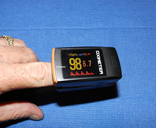 FINGER TIP PULSE OXIMETER TRUE COLOUR OLED DISPLAY MULTI FUNCTION PREMIUM X 1