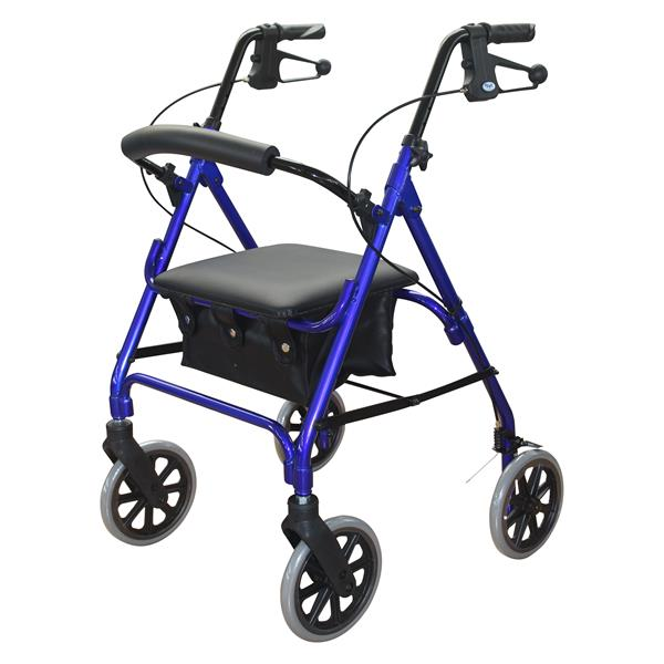 DAYS ROLLATOR SERIES 105 MOBILITY SEAT WALKER BLUE 165KGs CAPACITY