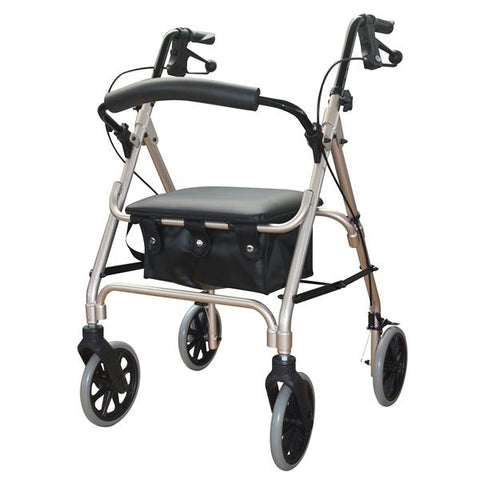 DAYS ROLLATOR SERIES 105 MOBILITY SEAT WALKER CHAMPAGNE 165KGS CAPACITY