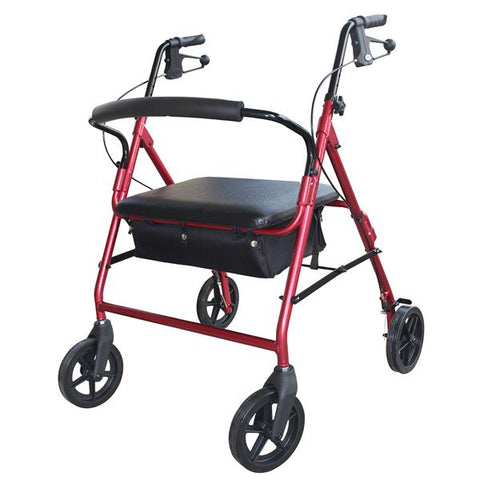 DAYS HEAVY DUTY ROLLATOR RED - 200KGS
