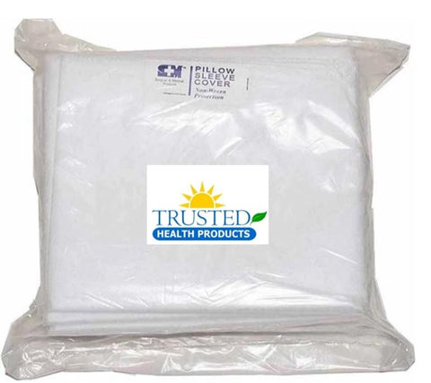 DISPOSABLE PILLOW SLEEVE NON WOVEN WHITE x 10