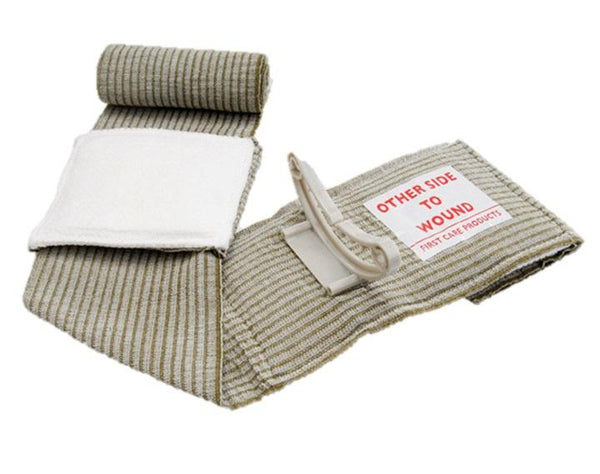 "FIRSTCARE MILITARY 4"" ISRAELI TRAUMA COMPRESSION BANDAGE WITH PRESSURE BAR"