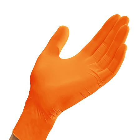 Paramedic Gloves, Heavy Duty Gloves, Nitrile Gloves, Powder Free Gloves, Examination Gloves, Medical Gloves, Nitrile, Disposable Gloves, Orange Gloves