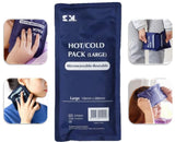 HOT AND COLD PACK REUSABLE PREMIUM NON-TOXIC LARGER 13.5CM X 28CM PACK MICROWAVEABLE X 1
